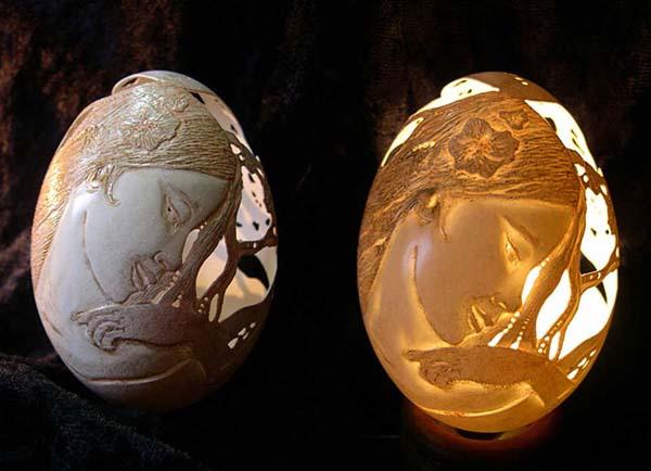 هنرنمایی های بی نظیر بر روی پوست تخم مرغ