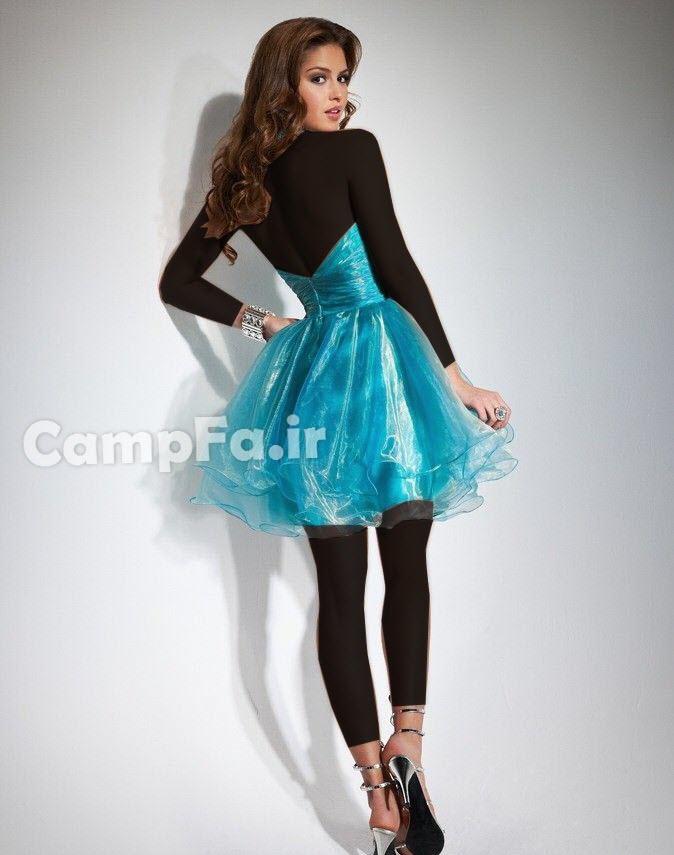 CAMPFA.IR مدل لباس مجلسی کوتاه زنانه و دخترانه سال 92