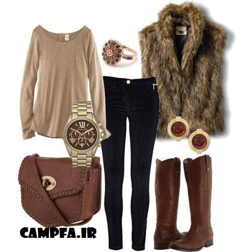 مدل های ست لباس دخترانه زمستانی 2013 | www.campfa.ir