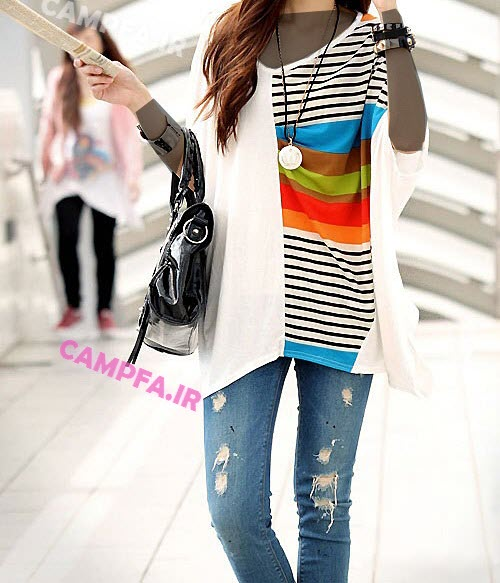 لباس دخترانه کره ایی طرح خفاشی 2013 - www.campfa.ir