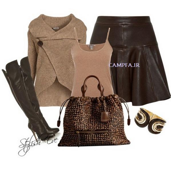 CAMPFA.IR ست لباس قهوه ایی زنانه سال 2013