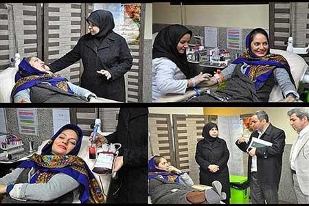 مهناز افشار,مهناز افشار در حال اهدای خون,جدیدترین عکس مهناز افشار
