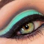 آموزش تصویری آرایش چشم 2014 سایه فیروزه ای